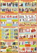 Плакаты по пожарной безопасности (комплект 8 штук), формат А3