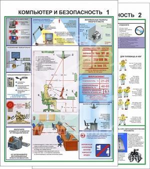 Плакат. Компьютер и безопасность (2 штуки)