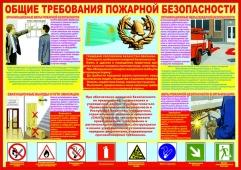 Плакат. Общие требования пожарной безопастности