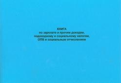 Книга по зарплате и прочим доходам, подоходному и социальному налогам, ОПВ и социальным отчислениям