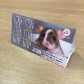 Настольный календарь-домик РК на 2020 год (Мышка в чашке)