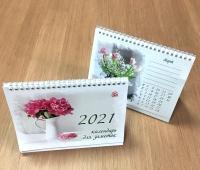 Настольный Перекидной календарь РК для Заметок на 2021 год (на пружине)