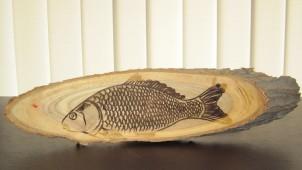 Сувенир рыба / Гравировка